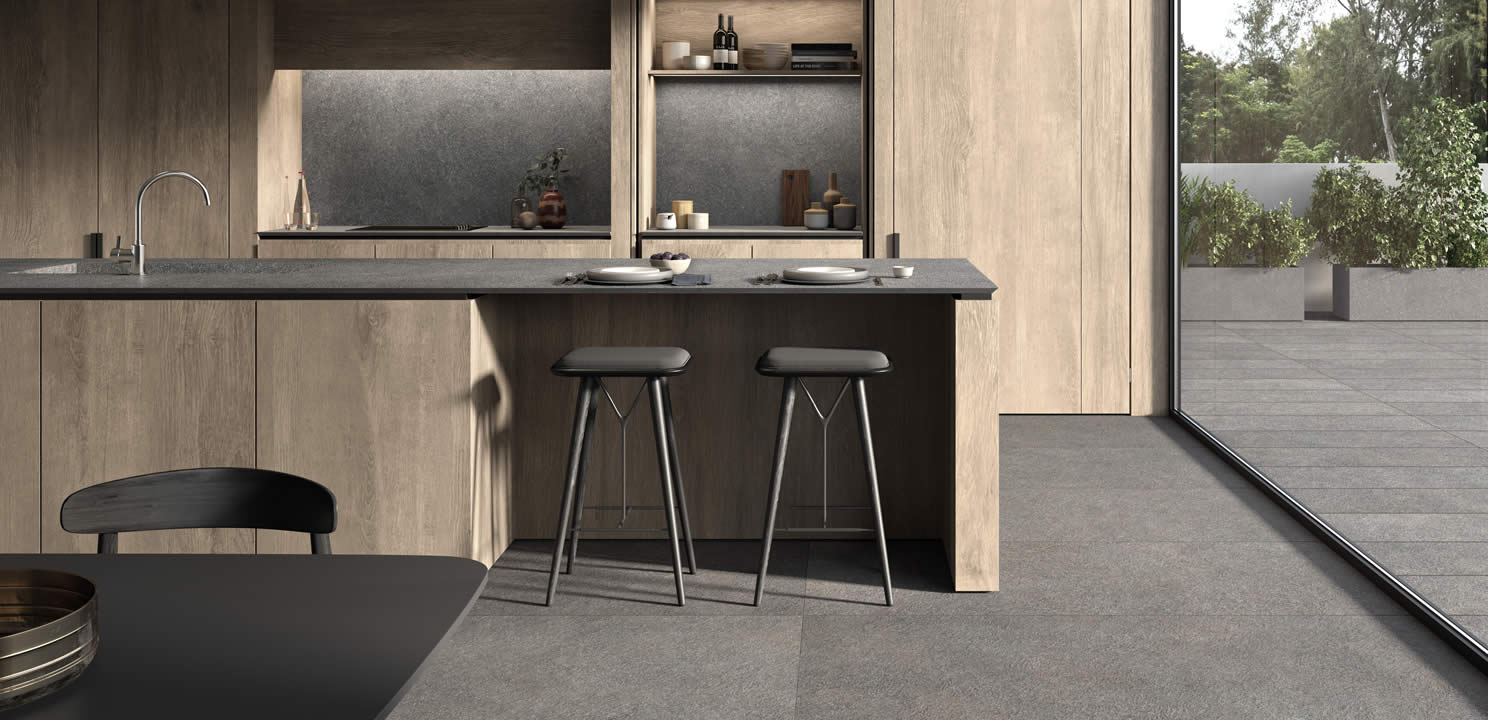 Piano Cucina Gres Opinioni kitchens - kronos ceramiche - floor coverings in porcelain