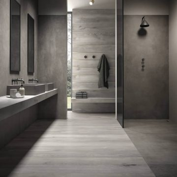 Porcelain stoneware in the bathroom