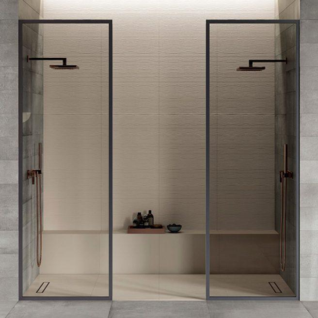 customized white shower tray
