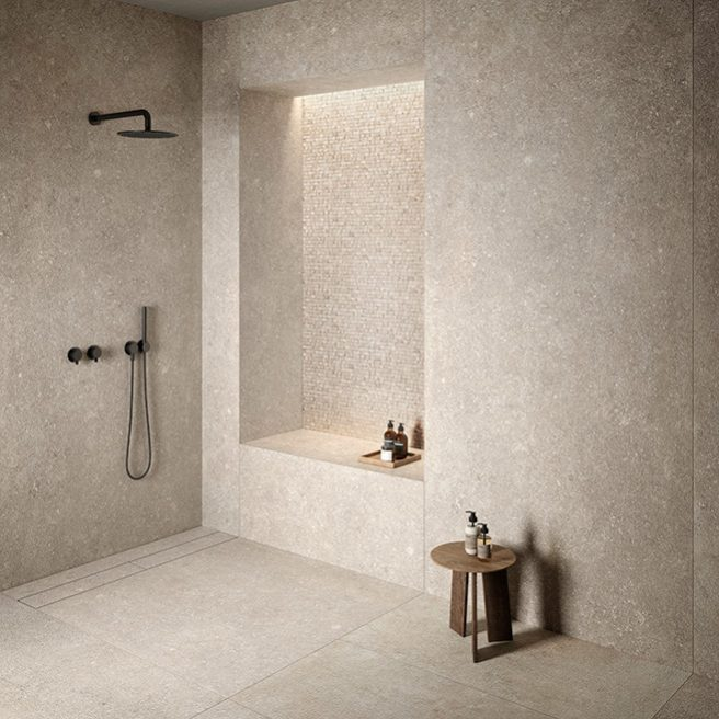 customized flush to floor shower tray