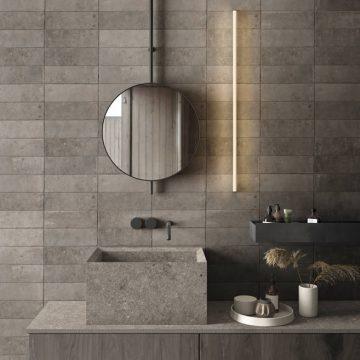 Bathroom wall porcelain stoneware