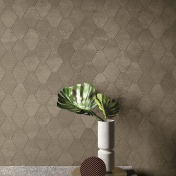 mosaico-esagono-effetto-metallo