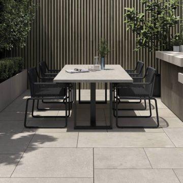 Garden flooring stone look