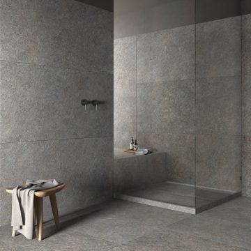 porcelain stoneware tile shower