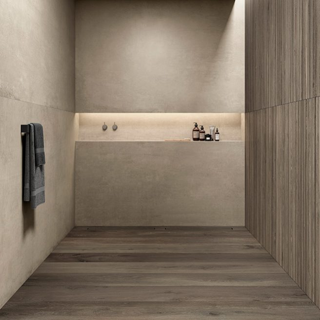 wood effect shower tray